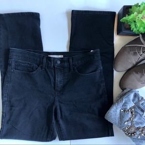 Levi's Black Shaping Straight Jeans